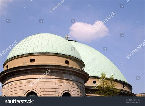 Church With Two Cupolas Stock Photo 12907129