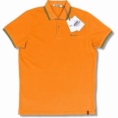 Orange Polo Shirt Ben Sherman Button Pique
