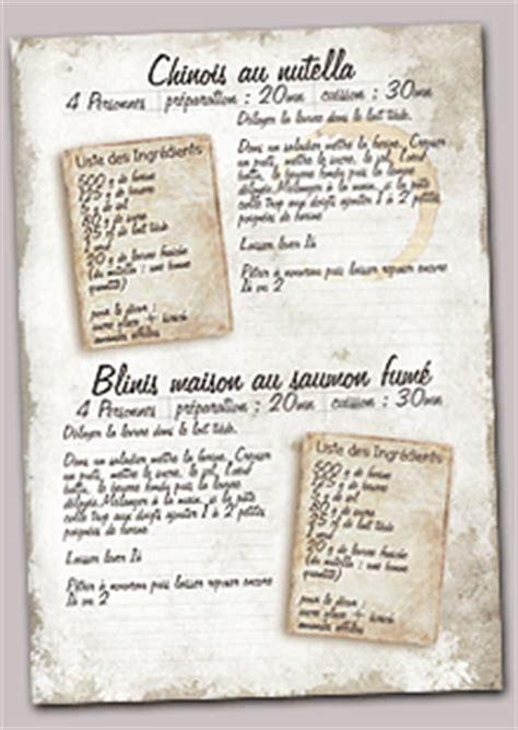 creer un cahier de recettes de cuisine creer mon livre de recettes personnalisé