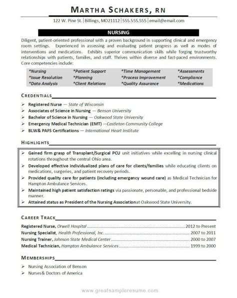 resumes sle director of nursing resume for senior