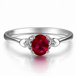 ruby and diamond engagement ring on 10k white gold With diamond and ruby wedding rings