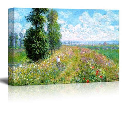 wall26 Meadow with Poplars by Claude Monet - Canvas Print Wall Art Famous Oil Painting ...