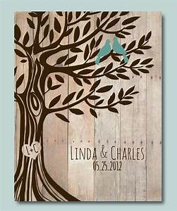 personalized wedding gift love birds tree engagement gift With tree as wedding gift