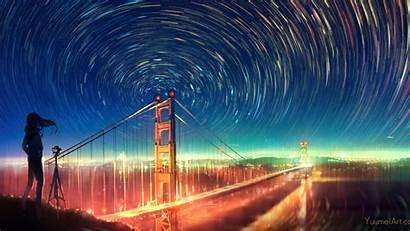 Francisco San Bridge Artwork Lights Wallpapers Infinite