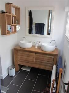 Salle De Bain Blanche Et Bois : salle de bain gris bois ~ Preciouscoupons.com Idées de Décoration
