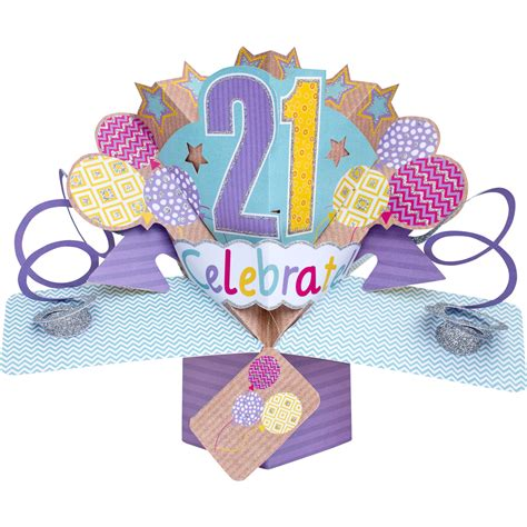 Birthday Pop Up Greeting Card happy 21st birthday pop up greeting card cards