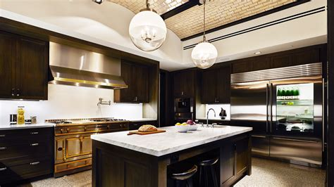 custom kitchen islands that look like furniture inside ultra luxury kitchens trends among wealthy buyers