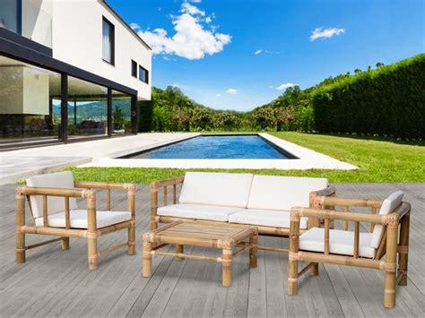 Salon De Jardin En Bambou by Salon De Jardin Bohol Ii En Bambou 1 Canap 233 2 Places 2