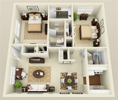 bedroom apartment layout google search houses