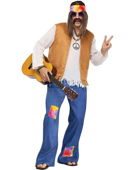 CL137FW Hippie Mens 60u0026#39;s 70u0026#39;s Disco Peace Groovy Halloween Fancy Dress Costume | eBay