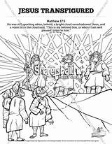 Matthew Coloring Pages Sunday Transfiguration Jesus Bible Crafts Lessons Colouring Printable Sharefaith Church Activities Activity Children Lesson Mark Luke Story sketch template