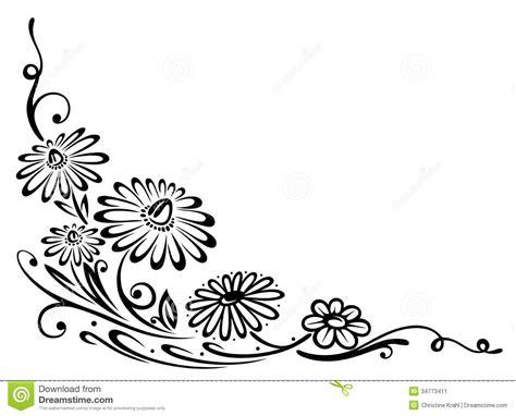 flores negras ilustracion del vector ilustracion de hojas