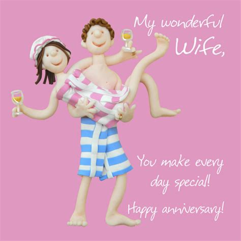 wonderful wife anniversary greeting card  lump