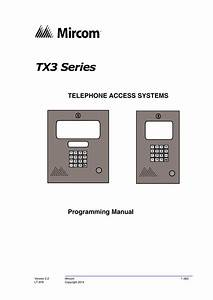 Mircom Tx3 Series User S Guide