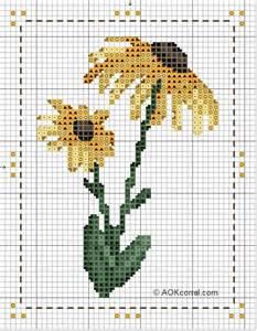 Free Flower Cross Stitch Pattern Chart