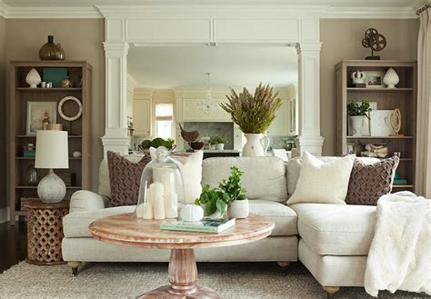 white sectional living room ideas linen sectional transitional living room the