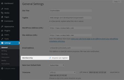 wordpress user registration explained