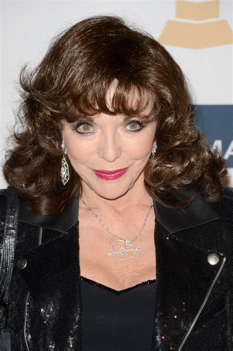 joan collins medium curls  bangs medium curls