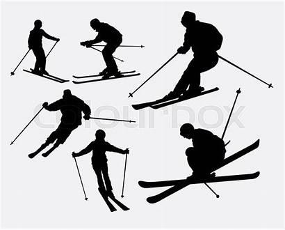 Skier Skiing Symbol Clipartmag