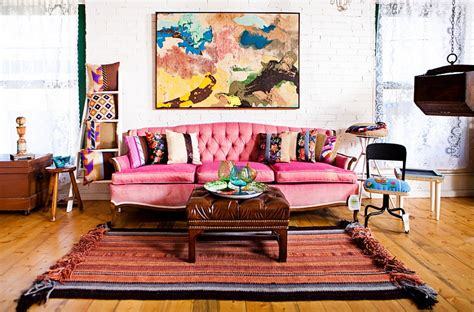 Bohemian Style Interiors, Living Rooms And Bedrooms