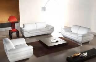 Italian Leather White Sofa Set He-vcal