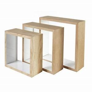 Cube Etagere Bois : lot de 3 cubes bois lima castorama ~ Teatrodelosmanantiales.com Idées de Décoration