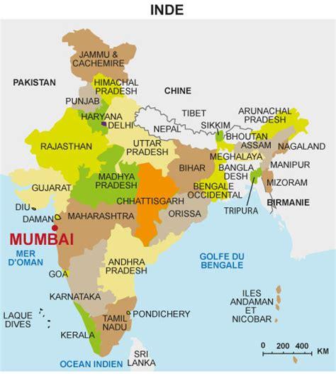 Carte Du Monde Inde by Bombay Inde Carte Du Monde Arts Et Voyages