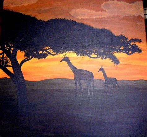 afrika bei sonnenuntergang sonnenuntergang malen