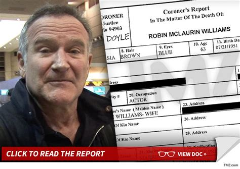 Robin Williams -- Suicide Triggered By Depression
