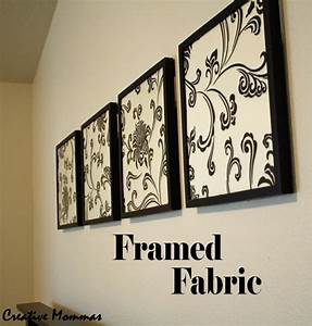 Creative mommas framed fabric wall decor