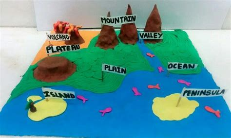 landforms   clay geography project