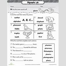 Phonics Review Digraph Ph  Worksheet Educationcom