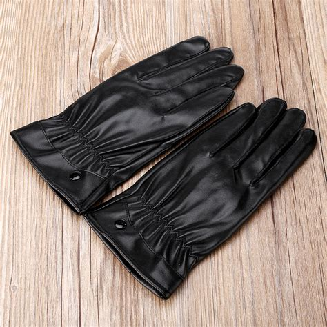 bike riding leather outdoor full finger leather waterproof gloves cycling