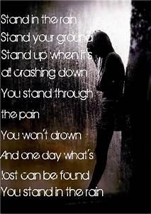 Rain Standing Alone Quotes. QuotesGram