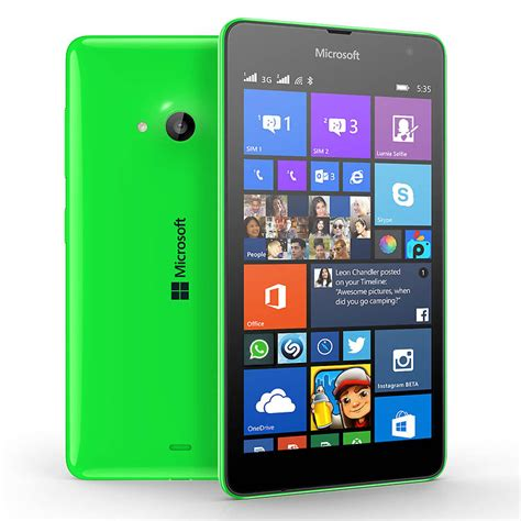 microsoft lumia 535 dual sim affordable phone with large screen wp 8 1 microsoft global