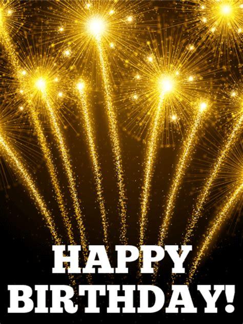 lets celebrate birthday fireworks card birthday