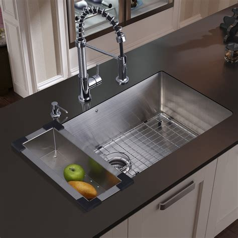 30 inch undermount kitchen sink vigo 30 inch undermount single bowl 16 gauge stainless