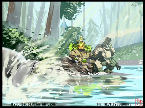 knowing the nature with bastion and orisa p 3 by miyuu490 on deviantart