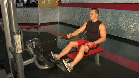 arm seated row exercises youtube