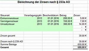 Zinsen Berechnen Excel Vorlage : excel berechnung der zinsen nach 233 ao ~ Themetempest.com Abrechnung