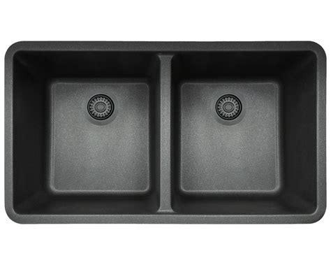 802 Black Double Equal Bowl TruGranite Kitchen Sink