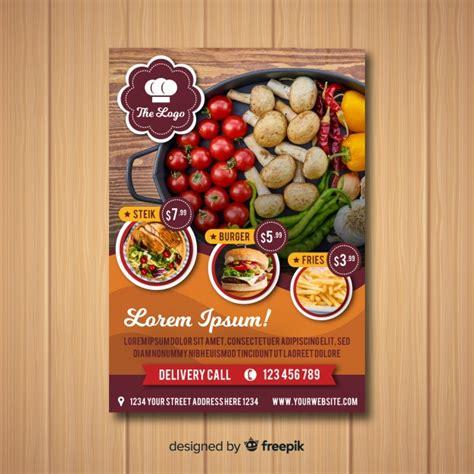 modern healthy restaurant flyer template vector