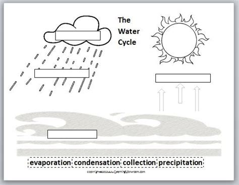 water cycle science pinterest worksheets for kindergarten awesome and science worksheets