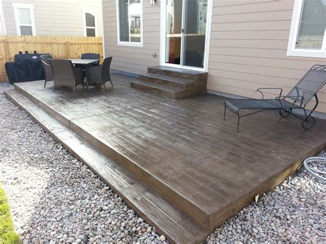 wood for patio wood grain texture sted concrete patio steps casco sted concrete pinterest patio