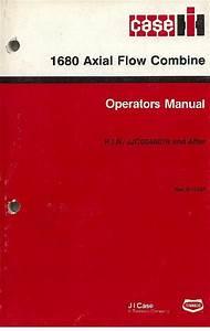 Case Ih Combine 1680 Axial Flow Operators Manual
