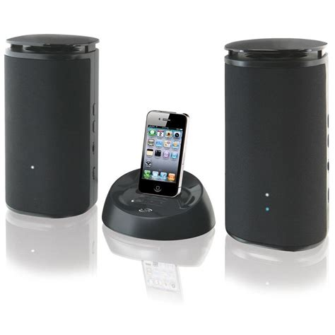 wireless speakers for iphone ilive wireless speakers w charging dock for ipod iphone