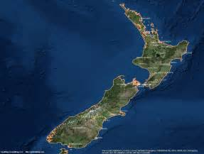 New Zealand Satellite Map