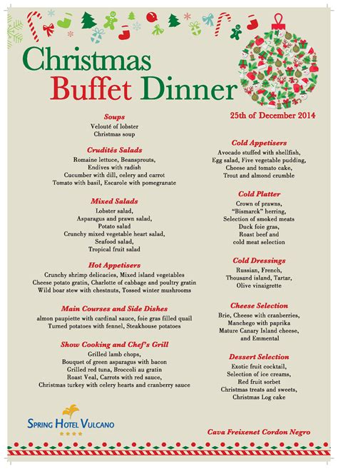 xmas buffett dinner new year s eve menu of spring hotel