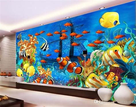 custom mural modern ocean world tropical fish photo