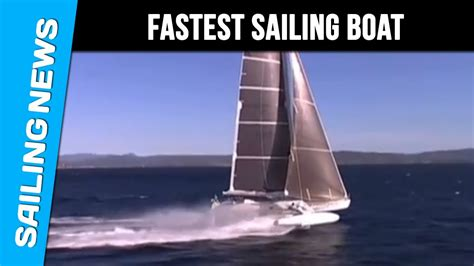 Fastest Boat In Knots by Hydrofoil World Speed Sailing Record For Hydroptere At